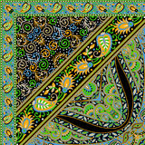 Schönes buntes Textildruck-Schaldesign Stockbild