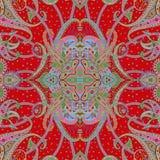 Schönes buntes Textildruck-Schaldesign Lizenzfreie Stockfotografie