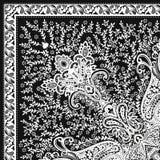 Schönes buntes Textildruck-Schaldesign Stockbilder