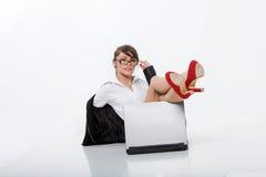 Schönes bussineswoman Lizenzfreie Stockbilder