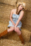 Schönes Cowgirl lizenzfreies stockbild