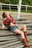Schönes Cowgirl Lizenzfreie Stockbilder