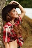Schönes Cowgirl Lizenzfreie Stockfotos
