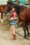 Schönes Cowgirl Stockbilder