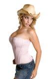 Schönes Cowgirl Stockfoto