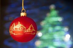Schönes cristmas Spielzeug mit handgemachter Dekoration Stockfoto