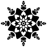 Schönes Deco Mandala Vector Kreismuster in der Form der Mandala lizenzfreie abbildung