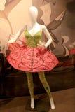 Schönes Design auf Mannequin, Nationalmuseum des Tanzes und Hall of Fame, Saratoga, 2015 Stockbilder