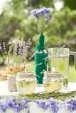 Schönes Design von Tischschmucken für Hochzeiten stockfoto