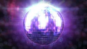 Schönes Disco-Ball-Spinnen nahtlos mit Aufflackern Schleife-fähiges lokalisiertes Mirrorball HD 1080 lizenzfreie abbildung
