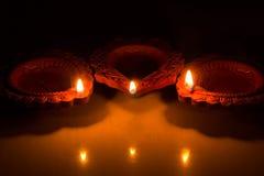 Schönes Diwali Candels Stockfotos