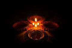 Schönes Diwali Candels Stockbilder