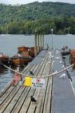 Schönes Dock im windermere Stockbild