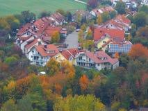 Schönes Dorf stockfotos