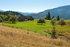 Schönes Dorf nahe Svydovets-Kante Stockfoto