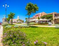 Schönes Dorf von Acciaroli an der Cilentan-Küste, Kampanien, Italien Lizenzfreies Stockbild