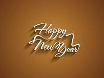 Schönes elegantes Textdesign des guten Rutsch ins Neue Jahr. Stockbild