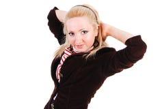 Schönes entzückendes junges Mädchen in der Jacke Lizenzfreie Stockfotos