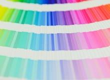 Schönes Farbmusterbuch Stockbild