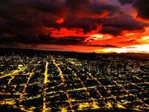 schönes Farbschema in einer schönen Stadt stockbild