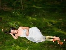 Schönes Feenschlafen stockfoto