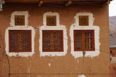 Schönes Fenster eines Hauses in Abyaneh, der Iran Lizenzfreie Stockfotografie
