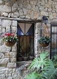 Schönes Fenster im Altbau in Safed Tzfat Lizenzfreie Stockfotos