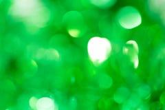 Schönes festliches grünes bokeh als Hintergrund Lizenzfreie Stockfotografie
