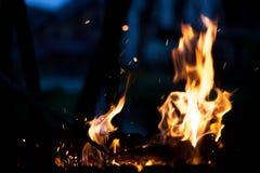 Schönes Feuer Das Konzept der Natur Stockfotos