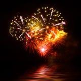 Schönes Feuerwerk Lizenzfreie Stockfotografie