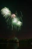 Schönes Feuerwerk zu Ehren des Moskaus Victory Day Parade Stockfotos