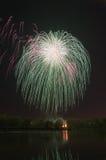 Schönes Feuerwerk zu Ehren des Moskaus Victory Day Parade Stockbild