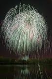 Schönes Feuerwerk zu Ehren des Moskaus Victory Day Parade Stockfotografie
