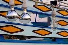 Schönes Fischerboot der Reflektorlampe Stockbilder