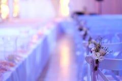 Schönes Foto des jüdischen Hupa, Heiratsputdoor Blumensträuße der Blumen lizenzfreie stockfotos