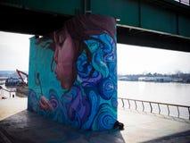 Schönes Foto unter der Brücke Lizenzfreie Stockfotografie
