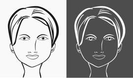 Schönes Frauen-Gesicht Stockbild