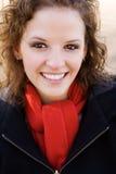 Schönes Frauen-Lächeln lizenzfreie stockbilder
