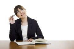 Schönes Frauendenken Lizenzfreies Stockfoto