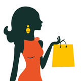 Schönes Fraueneinkaufen Lizenzfreies Stockbild