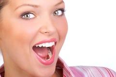 Schönes Frauengesicht Lizenzfreies Stockfoto