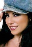 Schönes Frauenlächeln stockfotos