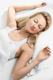 Schönes Frauenschlafen Lizenzfreie Stockfotografie