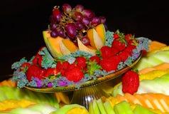 Schönes Fruchttellersegment. Stockbilder