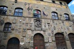 Schönes Gebäude in Arezzo, Italien Stockbild