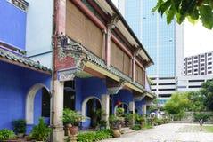 Schönes Gebäude von Cheong Fatt Tze - die blaue Villa in Geor Lizenzfreie Stockfotos