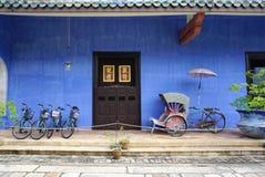 Schönes Gebäude von Cheong Fatt Tze - die blaue Villa in Geor Lizenzfreie Stockbilder