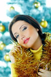 Schönes Gelb-Weihnachten lizenzfreies stockfoto