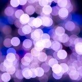 Schönes gelbes Weihnachtsfeenhafte Lichter in flachem dof Stockbilder
