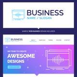 Schönes Geschäfts-Konzept-Markenname-Audio, Frequenz, Hz, s vektor abbildung